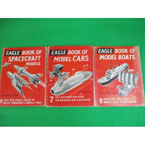 56 - Trio of vintage Eagle books  /anuals Book of making Cars , Boats and spacecraft...