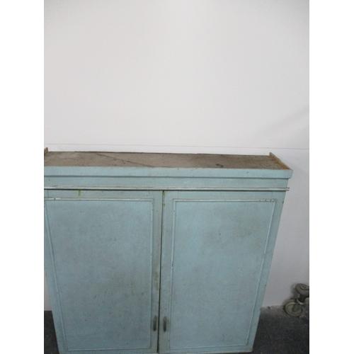 306 - Vintage kitchen larder cupboard 1950s . 124cm x 120cm x 28cm