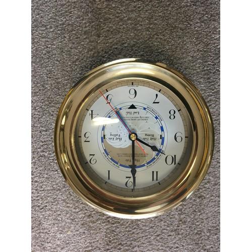 46 - Modern Quartz Bulkhead clock....