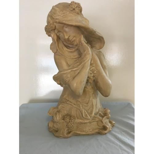 48 - Large resin Art Nouveau figure of a woman....
