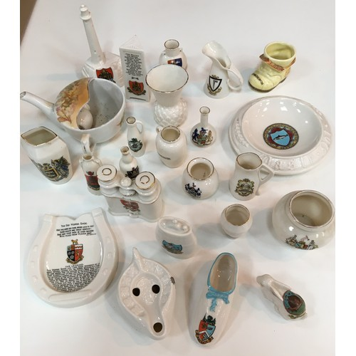 8 - Qty W H Goss crested china to inc Victorias slipper etc....