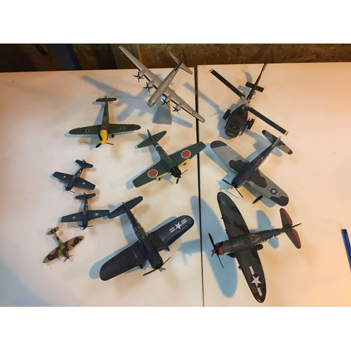 101 - Large die-cast military planes and helicopter, to inc Enola Gay....
