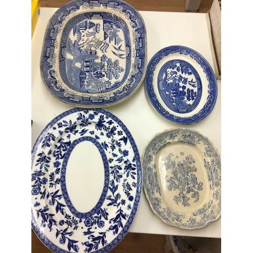 158 - Four vintage meat plates....