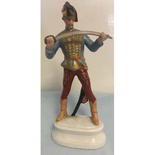 177 - Herend figure of an Hussar....