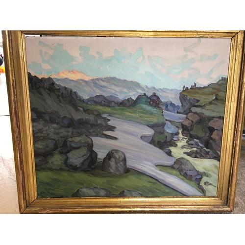 185 - Countess Ingegerd Ahlefeldt-Laurvig (1900-1986) oil on canvas