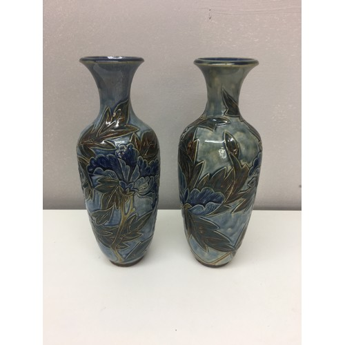 199 - Pair of Doulton Lambeth vases....