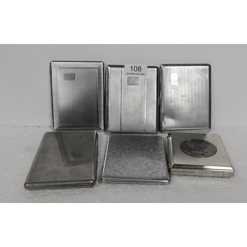 108 - 6 plated card cases