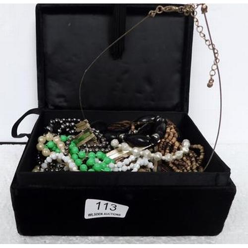 113 - Jewellery box full of jewellery