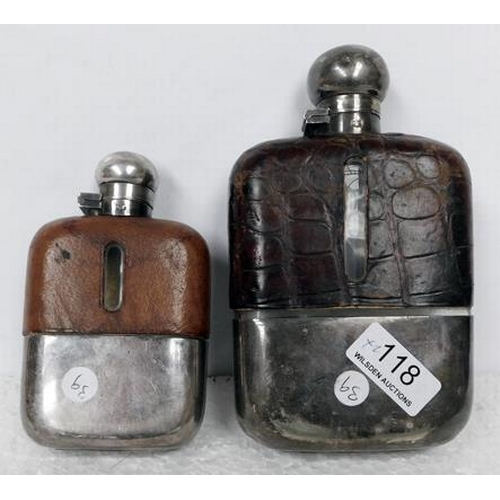 118 - Two hip flasks