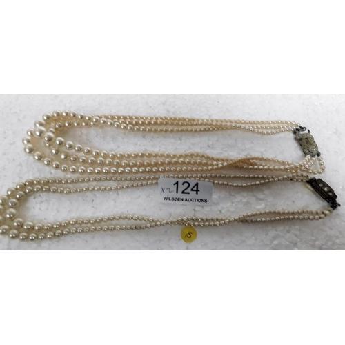 124 - 2 strings of pearls