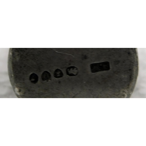 127 - Silver scent bottle holder (missing insert)