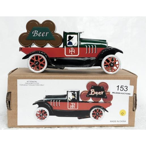 153 - Tin Plate Wind Up Beer Truck