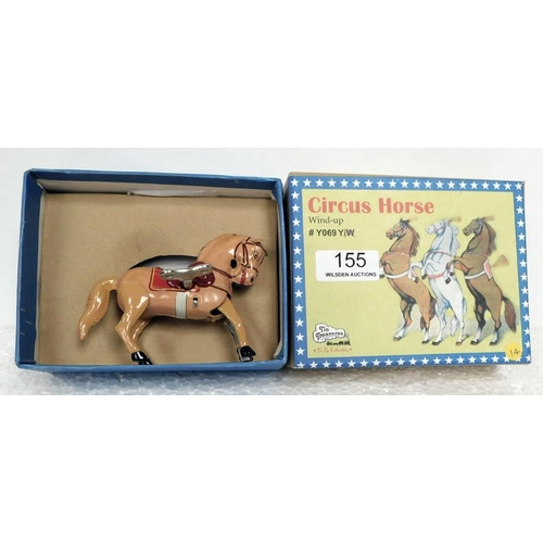 155 - Tin Plate Wind Up Circus Horse