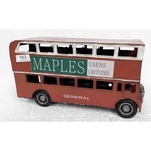 163 - Tin Plate model of a London bus
