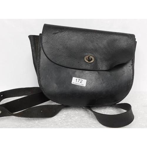 172 - Leather cartridge bag