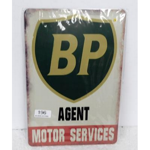 196 - BP Tin plate sign