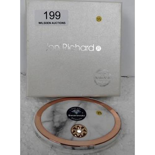 199 - Swarovski Elements compact mirror