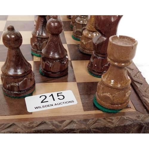 215 - Wooden Chess set