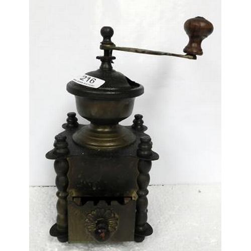 216 - Old coffee grinder