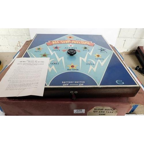 228 - All star electric Put & Take game A/F