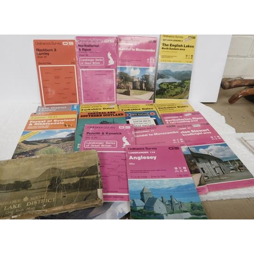 229 - Box of assorted maps some O/S