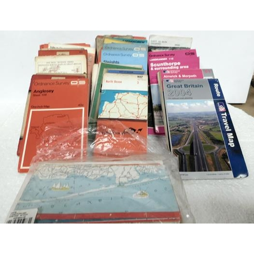 230 - Box of assorted maps some O/S