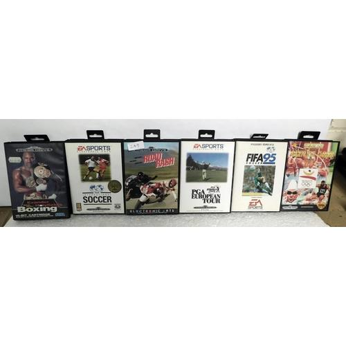 249 - Collection of vintage Sega Mega drive games with manuals