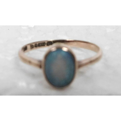 29 - Opal 9ct gold ring size N½