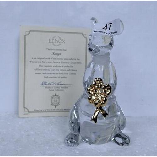 47 - Lennox crystal Kangaroo