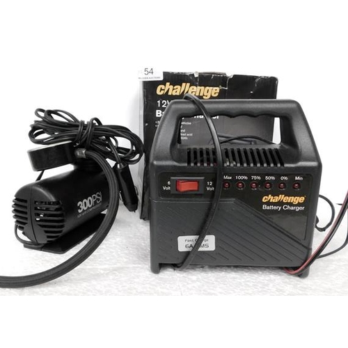 54 - Battery charger & air compressor