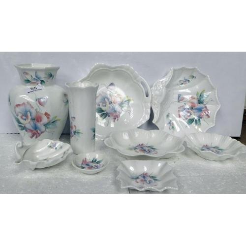 55 - Aynsley little sweetheart pottery 10 items
