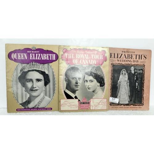 57 - Three rare commemorative Royalty books