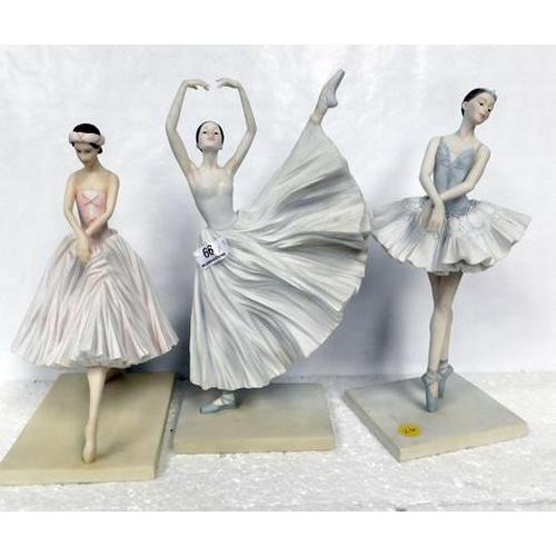 66 - Three ballerina figures