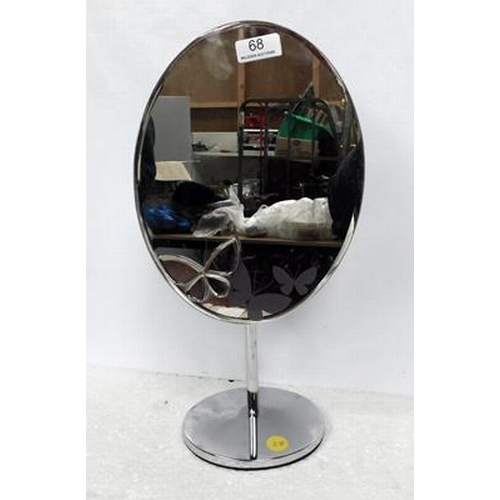 68 - Stalk Mirror with butterfly decoration