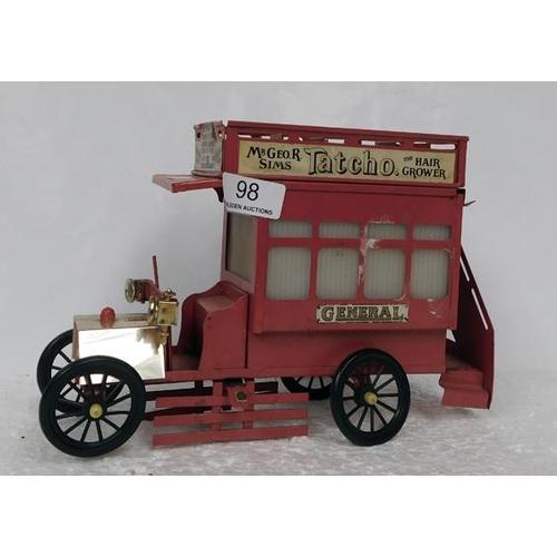 98 - Tin plate Advertising bus