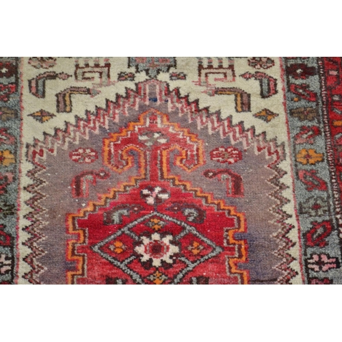 11 - 2 vintage prayer rugs - larger one 4ft x 2ft...