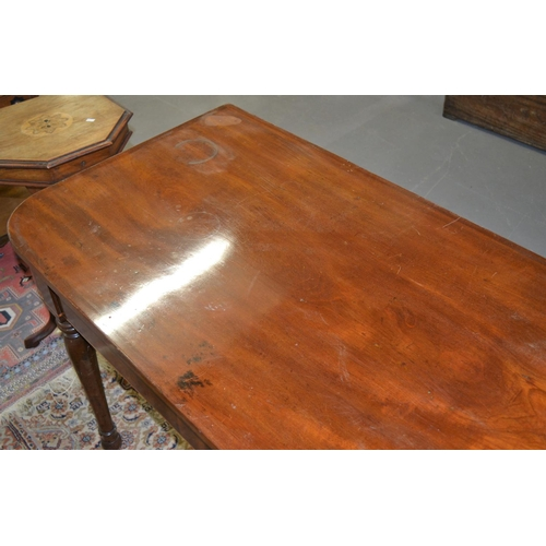 22 - A Victorian mahogany side table or buffet table...