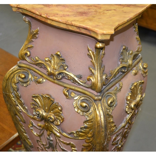 33 - A large Rococo style pedestal...