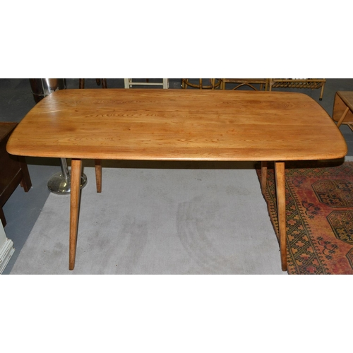 1 - A vintage Blonde Ercol dining table...