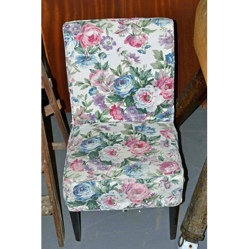 26 - Floral covered bedroom chair...