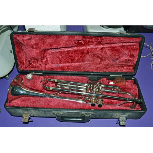 Boxed Yamaha silver plated trumpet