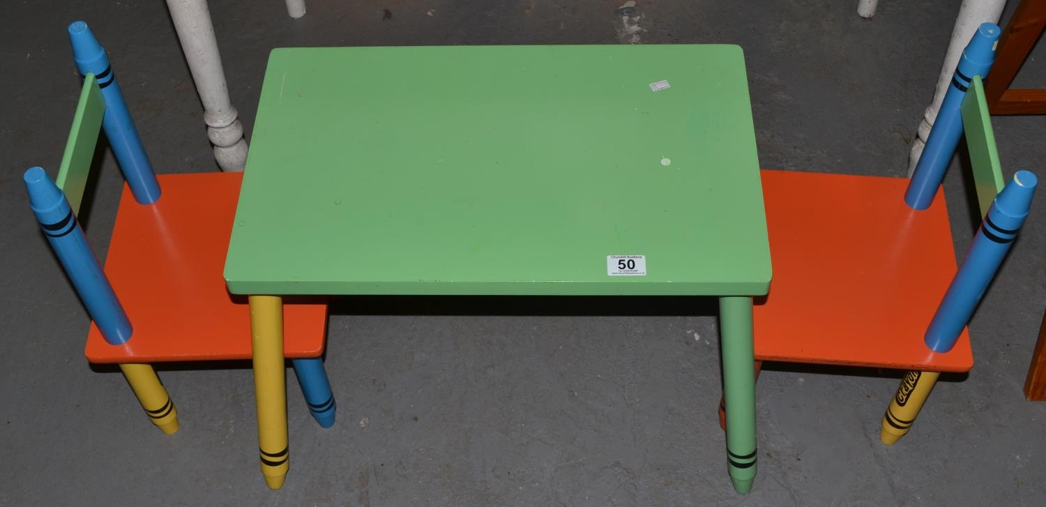Super Crayola Crayon Designed Childrens Table And 2 Chairs Ocoug Best Dining Table And Chair Ideas Images Ocougorg