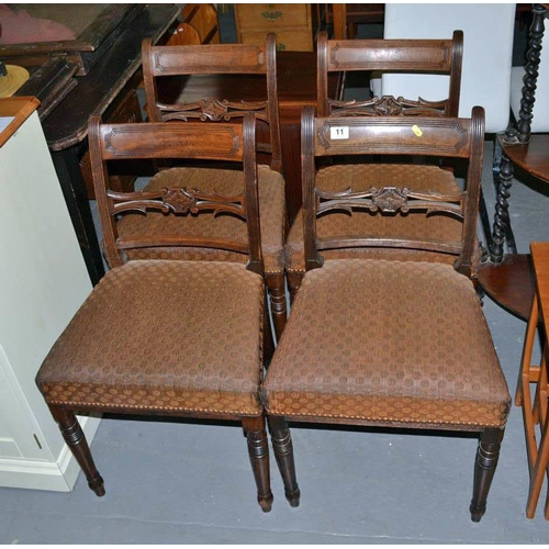 11 - 4 antique dining chairs...