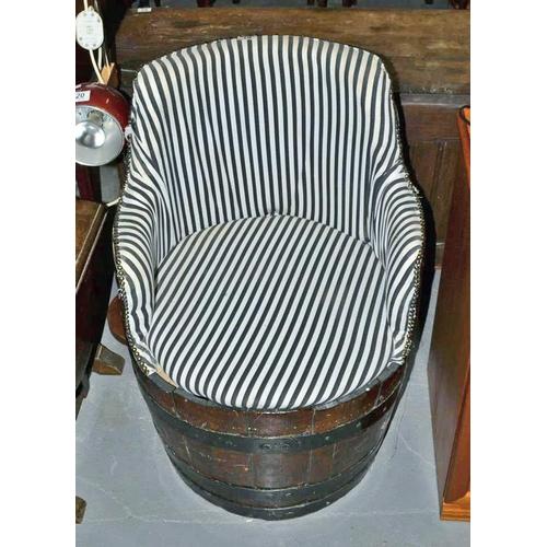 19 - Barrel chair...