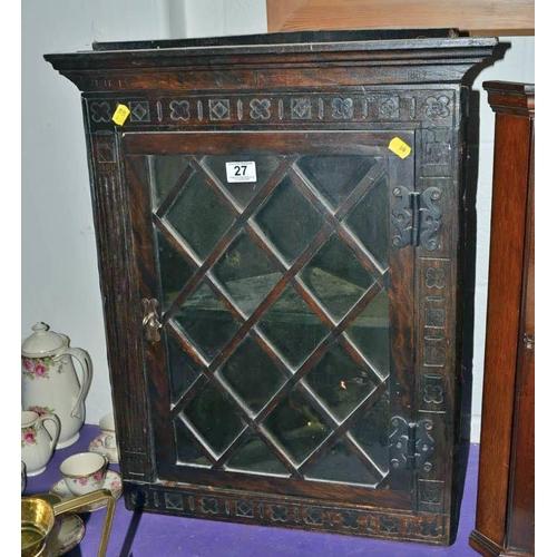 27 - Antique glazed corner cabinet...