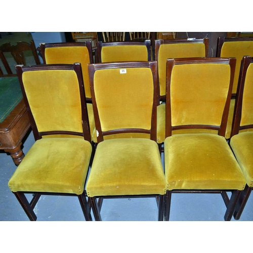 35 - 6 dining chairs - to match previous lot...