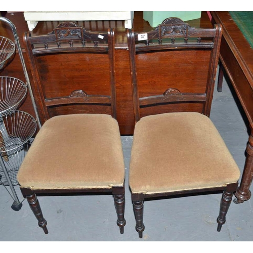 37 - Pair of antique chairs...