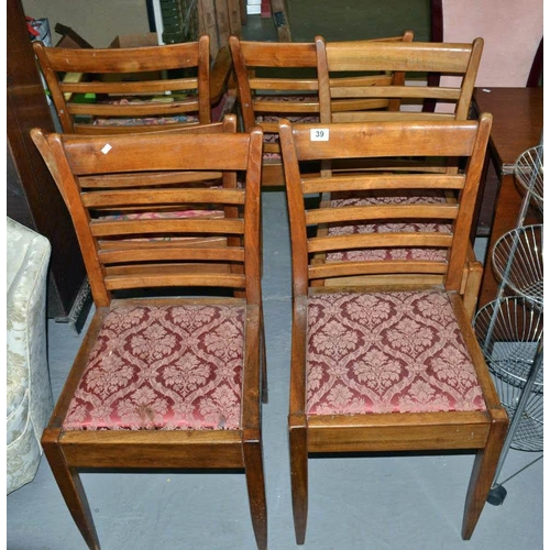 39 - 6 Dining chairs...