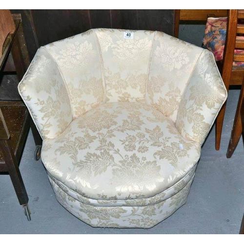 40 - Cream covered nursing chair...