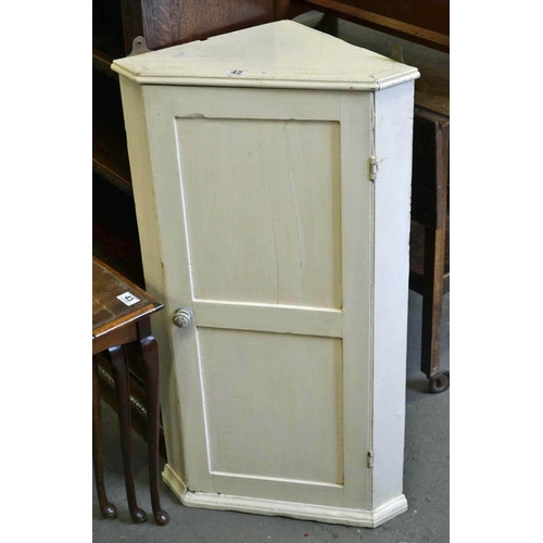 42 - Antique painted pine cupboard...